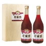 紫甘藷から作った健康飲料 肝康酢 【2本入化粧箱】