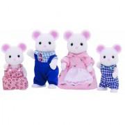 Sylvanian Families - White Mouse Family - 4121 - New