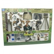 New Ray Deluxe Nature Wild Game Hunting & Fishing Ultimate All in One Playset with Fish Deer Moose Bear Dogs and More