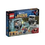 We-R-Kids Game / Play Lego Superheroes 76009 Superman Black Zero Escape Features Sliding Door Retractable Bridge Toy / Child / Kid