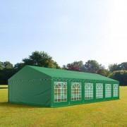 Profizelt24 Partyzelt 6x12m PVC dunkelgrün Gartenzelt, Festzelt, Pavillon