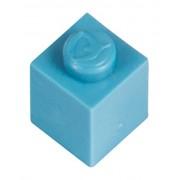 Q-Bricks 1 x 1-Stud Building Blocks flojo Pack (500 piezas, Azure)