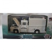 M2 Machines Auto-Trucks Series 1:64 Scale White Department Of Public Works 1956 Ford F-100 Die-Cast
