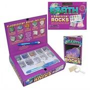 Earth Science Fluorescent Rocks Kit w/UV Pen by GeoCentral