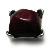 Entrepieza corona con piedra color vino- piezas separadas