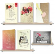 I Love You Package - (Wedding or Anniversary Greeting Card Set of 6)