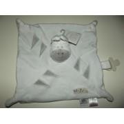 Doudou Plat Zèbre Mr Zébre Les Chatounets Blanc Gris Argent Jouet Bebe Naissance Enfant Comfort Blanket Comforter Soft Toy Peluche