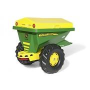 Rolly Toys 125111 - Veicolo a Pedali Streumax Spargisale John Deere, Sabbia