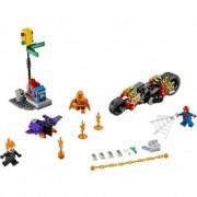 LEGO® Marvel Super Heroes Omul Păianjen: Alăturarea forțelor Călărețului fantomă 76058