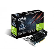 Asus GeForce GT730 Scheda Video PCIe, Silent 2GB LP, Nero