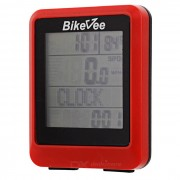 Bikevee wh-20 Wireless Waterproof Bicycle Computer - Red (1 x CR2032)