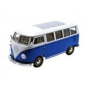 Welly - 22095 Bl - Combi Volkswagen Bus T1 - 1962 - 1/24 Escala - Azul / Blanco