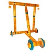 eco friendly honey green color wooden baby walker