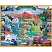 White Mountain Puzzles Washington State - 1000 Piece Jigsaw Puzzle by White Mountain Puzzles