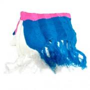 Bufanda Blanca, Azul y Rosa