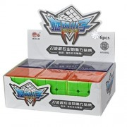 Qm H Set Of 6 Pack 3x3x3 Classical Speed Puzzle Magic Cubes Stickerless True Color