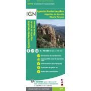 Fietskaart - Wandelkaart 31 Top75 Corsica: Ajaccio - Porto Vecchio - Aiguilles de Bavella - Monte Renoso | IGN
