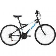 Caloi Bicicleta Caloi Montana - Aro 26 - Freio V-Brake - Câmbio Caloi - 21 Marchas - PRETO/BRANCO