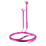 Coby CVE-101-PNK Stereo Earbuds with Built-In Mic Pink