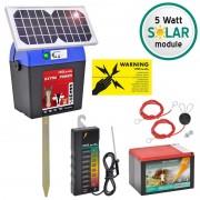 9V VOSS.farming Energiser Extra Power 9V SOLAR incl. Battery + Fence Tester