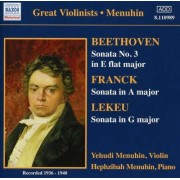 Beethoven/ Franck/ Lekeu - Sonata No.3/ In a Major/ G (0636943198926) (1 CD)