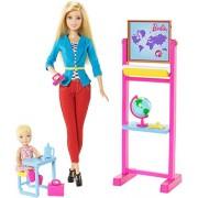 mattel ccp69 barbie insegnante bambola playset