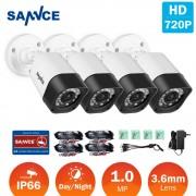 SANNCE 4pcs 720P HD 1MP TVI Security CCTV Cameras indoor outdoor Waterproof IR night vision white camera in Surveillance kit