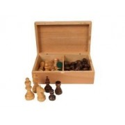 """Classic Game Collection Wooden Chess Pieces 4"""" Staunton Style by JNH"""
