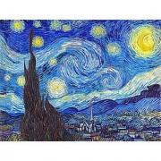 Pintoo - P1139 - Vincent Van Gogh - The Starry Night June 1889 - 150 Piece Mini Plastic Puzzle