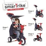 Rotes & Blaues Star Smart Trike Touch Steering 4-In-1 Dreirad Kleinkind Fahrrad
