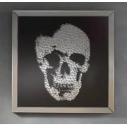 items-france PHIL - Cadre miroir tte de mort en strass design 100cm x 100cm