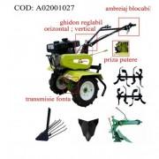 Motocultor Gardelina 50 NEW cu roti cauciuc 400x8, plug LY revers, plug cartofi si rarita fixa,