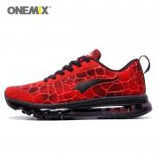 Onemix Sport Shoes Men Running Shoe Elastic Red Black Sneaker Air Cushion Athletic Trainer Man Training Size EU 39-47 US 12 13