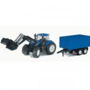 BRUDER Traktor sa prikolicom-plavi, 1993