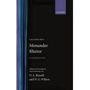Menander Rhetor by Menander Rhetor