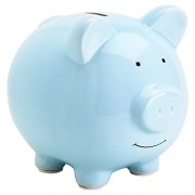 Pearhead Ceramic Piggy Bank, Blue by Pearhead