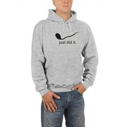 Touchlines Sweatshirt Just did it Sudadera con capucha, gris, S