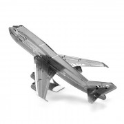 DIY 3D rompecabezas montado boeing avion modelo de juguete - plata
