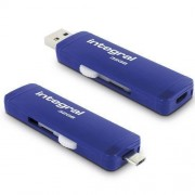 Memorie USB Integral Slide Otg 32GB blue