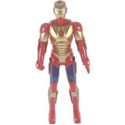 Littlegrin Super Hero Iron Man With Flash Light Sound Action Figure (Multicolor)