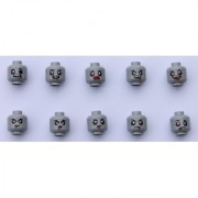 Lego Zombie Heads Version Ii One Set of 10 Different Designs Genuine Lego Parts