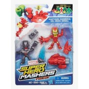 Marvel - Super Hero mashers Micro - Iron Man Vs. Ultron - 2 figuras personalizables 5 cm