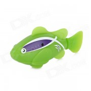 ROBO FISH Electric Water Activated Magical Fish Toy - Green + White + Purple (2 x L1154)