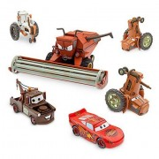 Disney Pixar CARS Movie Exclusive Limited Edition Set TRACTOR TIPPING DELUXE DIE CAST SET mit FRANK THE COMBINE (Scale 1:24), 2 TRACTORS, 1 COW TRACTOR, LIGHTNING MCQUEEN, MATER (Scale 1:43) - Metal by Disney