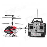 S007 rechargeable 40MHz 3-CH R / C Helicopter w / Radio Energie & Gyroscope - Argent + Noir + rouge