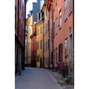 Narrow Street in Stockholm, Sweden Journal: 150 Page Lined Notebook/Diary
