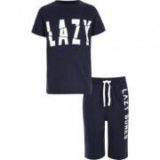 River Island Boys Navy 'lazy bones' pyjama set