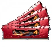 Memorie G.Skill Ripjaws 4 Red 16GB (4x4GB) DDR4 3300MHz CL16 1.35V Intel X99 Ready XMP 2.0 Quad Channel Kit, F4-3300C16Q-16GRRD