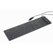 Gembird KB-109F-B (hajlekony,szilikon,US) USB