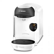 Bosch TASSIMO Vivy TAS1254 - Cafetera multibebidas automática de cápsulas, diseño compacto, color blanco y negro
